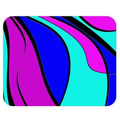 Purple And Blue Double Sided Flano Blanket (medium)  by Valentinaart