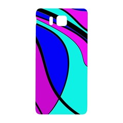 Purple And Blue Samsung Galaxy Alpha Hardshell Back Case by Valentinaart