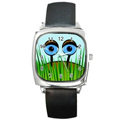 Snail Square Metal Watch by Valentinaart