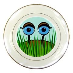 Snail Porcelain Plates by Valentinaart
