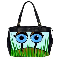 Snail Office Handbags (2 Sides)  by Valentinaart