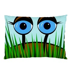 Snail Pillow Case (two Sides) by Valentinaart