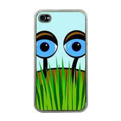 Snail Apple Iphone 4 Case (clear) by Valentinaart