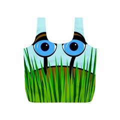 Snail Full Print Recycle Bags (s)  by Valentinaart