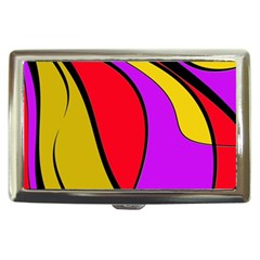 Colorful Lines Cigarette Money Cases by Valentinaart