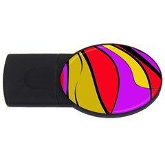 Colorful Lines Usb Flash Drive Oval (2 Gb)  by Valentinaart