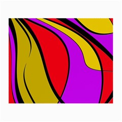 Colorful Lines Small Glasses Cloth by Valentinaart