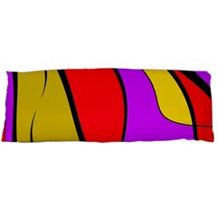 Colorful Lines Body Pillow Case (dakimakura) by Valentinaart