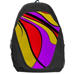 Colorful Lines Backpack Bag by Valentinaart