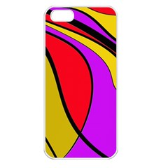 Colorful Lines Apple Iphone 5 Seamless Case (white) by Valentinaart