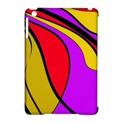Colorful Lines Apple Ipad Mini Hardshell Case (compatible With Smart Cover) by Valentinaart