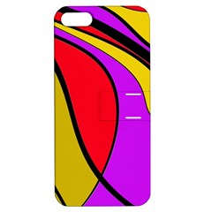 Colorful Lines Apple Iphone 5 Hardshell Case With Stand by Valentinaart