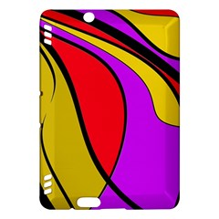 Colorful lines Kindle Fire HDX Hardshell Case by Valentinaart