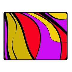 Colorful Lines Double Sided Fleece Blanket (small)  by Valentinaart