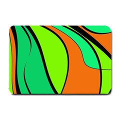 Green And Orange Small Doormat  by Valentinaart
