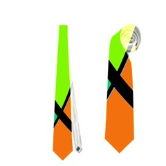 Green And Orange Neckties (one Side)  by Valentinaart