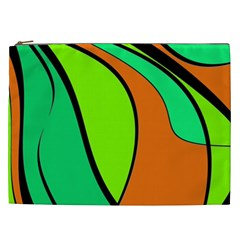 Green And Orange Cosmetic Bag (xxl)  by Valentinaart