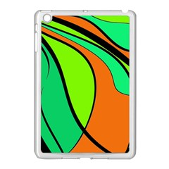 Green And Orange Apple Ipad Mini Case (white) by Valentinaart