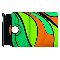 Green And Orange Apple Ipad 3/4 Flip 360 Case by Valentinaart