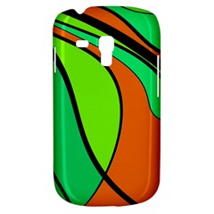 Green And Orange Samsung Galaxy S3 Mini I8190 Hardshell Case by Valentinaart