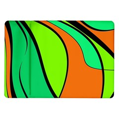 Green And Orange Samsung Galaxy Tab 10 1  P7500 Flip Case by Valentinaart