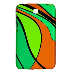 Green And Orange Samsung Galaxy Tab 3 (7 ) P3200 Hardshell Case  by Valentinaart