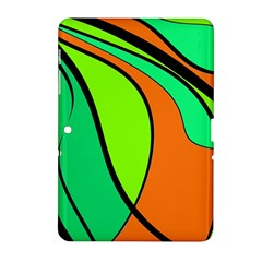 Green And Orange Samsung Galaxy Tab 2 (10 1 ) P5100 Hardshell Case  by Valentinaart