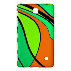 Green And Orange Samsung Galaxy Tab 4 (7 ) Hardshell Case  by Valentinaart