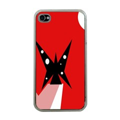 Black Butterfly  Apple Iphone 4 Case (clear) by Valentinaart