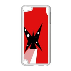 Black Butterfly  Apple Ipod Touch 5 Case (white) by Valentinaart