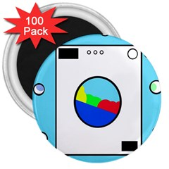 Washing Machine  3  Magnets (100 Pack) by Valentinaart