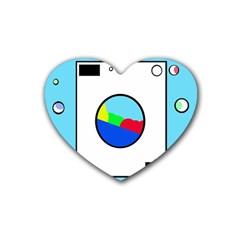 Washing machine  Heart Coaster (4 pack)