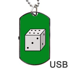 Dice  Dog Tag Usb Flash (two Sides)  by Valentinaart
