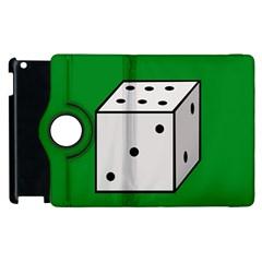 Dice  Apple Ipad 2 Flip 360 Case by Valentinaart