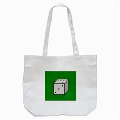 Dice  Tote Bag (white) by Valentinaart