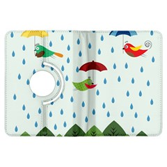 Birds in the rain Kindle Fire HDX Flip 360 Case by justynapszczolka