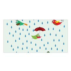 Birds In The Rain Satin Shawl by justynapszczolka