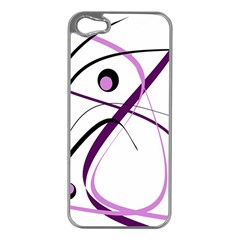 Pink Elegant Design Apple Iphone 5 Case (silver) by Valentinaart