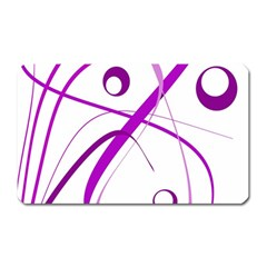 Purple Elegant Design Magnet (rectangular) by Valentinaart