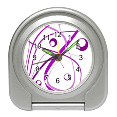 Purple Elegant Design Travel Alarm Clocks by Valentinaart