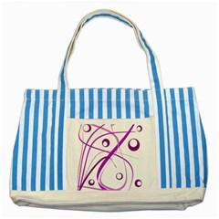 Purple Elegant Design Striped Blue Tote Bag by Valentinaart