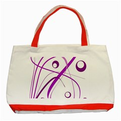 Purple Elegant Design Classic Tote Bag (red) by Valentinaart