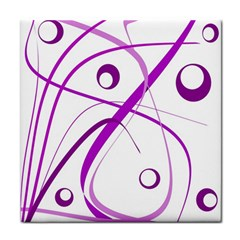 Purple Elegant Design Face Towel by Valentinaart