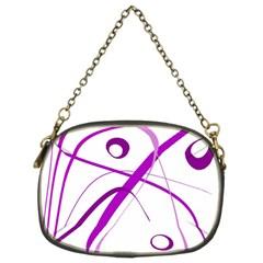 Purple Elegant Design Chain Purses (two Sides)  by Valentinaart