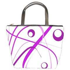 Purple Elegant Design Bucket Bags by Valentinaart