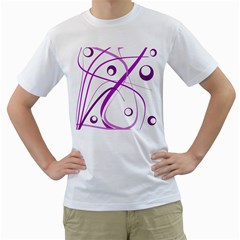 Purple Elegant Design Men s T Shirt (white)  by Valentinaart