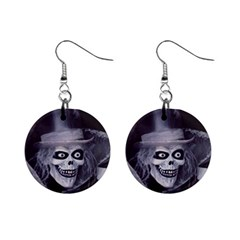 Hatbox Ghost Mini Button Earrings by Mansion