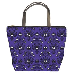 Haunted Mansion Wallpaper Bucket Handbag