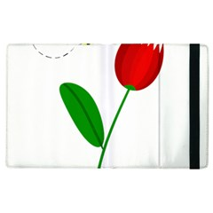 Red Tulip And Bee Apple Ipad 2 Flip Case by Valentinaart