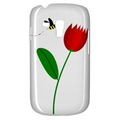 Red Tulip And Bee Samsung Galaxy S3 Mini I8190 Hardshell Case by Valentinaart